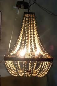 elena wood bead chandelier mediterranean chandeliers wooden beads chandelier nature wooden beads