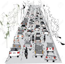 traffic drawing stock photos pictures royalty traffic traffic drawing vector illustration of crowded way