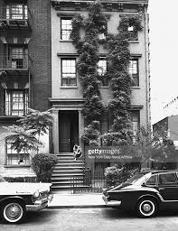 Anne Bancroft Sitting On Stoop Outside Apartment In Greenwic - New york apartments outside