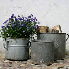 Vintage Zinc Planters For Indoors And Out