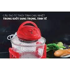 Lò nướng thủy tinh 12 lít Sunhouse SH416 đỏ Hàng chính hãng - Lò vi sóng
