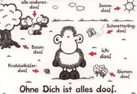 Sheepworld Ohne Dich Ist Alles Doof Postkarte