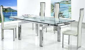 glass dining table round