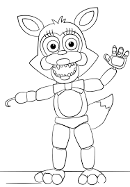 Fnaf Coloring Pages Funtime Foxy Homesecuritylaorg