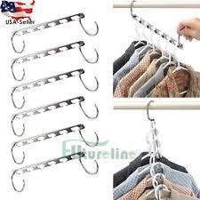 6pcs Multi-function Metal Magic Clothes Hanger Space Saver Organization#18