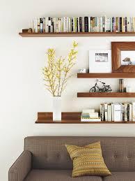 Wall Shelves Living Room Diy Floating Wall Shelves Designs
