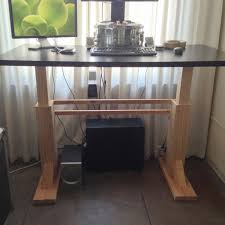 amazing electric height adjule desk diy adjule standing desk designs