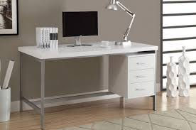 Modern Computer Desk White Wood Table Home Office Workstation Furniture