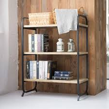 Sturdy Design Co Co Z 3 Tier Industrial Shelf Vintage Style Solid Wood Rack And Sturdy Steel Tube Frame With Black Finish 100 Lb Load Capacity
