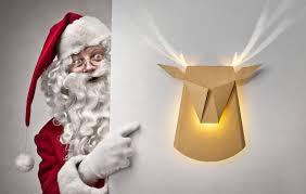 Light Up Pop Up Santa Sweet Deer Lamps Made Of Cardboard Light Up The Holidays