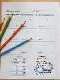 solving quadratics by graphing coloring