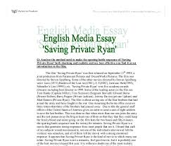 saving private ryan university media studies marked by  document image preview