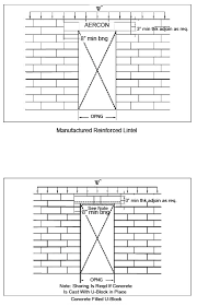 Cmu Block Coursing Chart Structural Design Aercon Aac Autoclaved Aerated Concrete