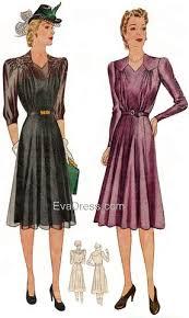 1940s Dress Patterns Unique 48s EvaDress Patterns