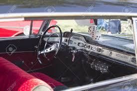 Impala black chevy impala : MARION, WI - SEPTEMBER 16: Interior Of Black 1955 Chevy Impala ...