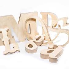 large wood letters any font custom