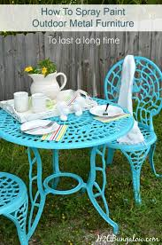 how to spray paint metal outdoor furniture to last a long painting metal table base