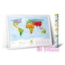 Интерактивная <b>карта</b> мира <b>1DEA</b>.<b>me Travel Map</b> Kids Animals ...