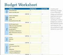 Budgeting Worksheet For College Students Fresh 7 Free