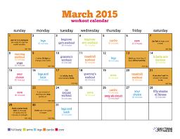 Fitness Workout Calendar Calendar Templates