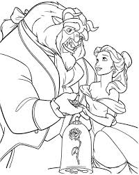 Disney Beauty And The Beast Coloring Pages Getcoloringpagescom