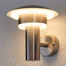 led stainless steel outdoor wall light lillie
