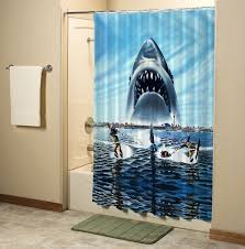 jaws shark in beach custom shower curtain high quality bathroom inch