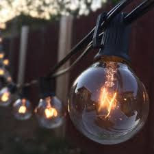 Globe Umbrella Lights Buy G40 String Lights With 25 Clear Globe Bulbs Ul Listed