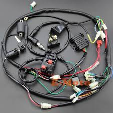 full electrics wiring harness cdi ignition coil key ngk spark plug for 150cc gy6 atv quad