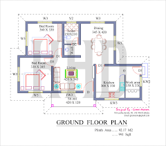kerala house plan for budget house the bedrooms are located right next to this living room in fact their doors open up to the living room