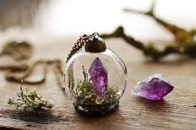 tags purple amethyst unusual necklace