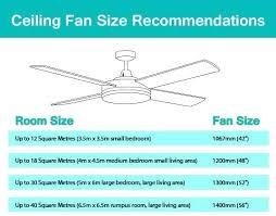 Ceiling Fan Cfm Chart Fan Size Calculator Gamora Co