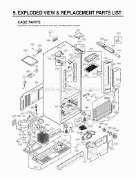 lg refrigerator parts diagram. lg lfx25975st parts list and diagram - (lfx25975st /00) : ereplacementparts.com lg refrigerator f