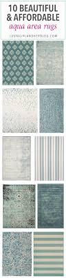 10 beautiful and affordable aqua area rugs
