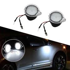 2PCS High Power White LED Side Mirror Puddle Lights For 2007-2017 ...
