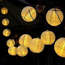 X 16ft 20 Oriental LED Solar String Chinese Lantern Lights For Indoor Outdoor  Christmas Wedding Birthday Party