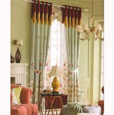 Beautiful Curtains Country Elegant Floral Jacquard