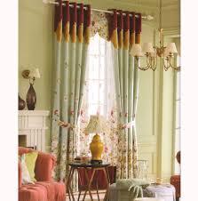 beautiful curtains country elegant fl jacquard