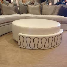 upholstered round ottoman coffee table for living room centerpiece turn oval