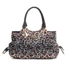 Coach Leopard Logo Medium Brown Totes EAA