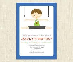 Make Birthday Party Invitations Boy Gymnastics Birthday Party Invitations Image 0 Invitation Maker