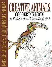 Amazon Com Creative Animals Colouring Book The Mindfulness