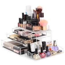 melody susie large acrylic makeup organizer