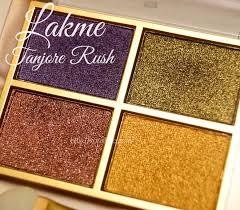 lakme 9 to 5 eye color quartet tanjore rush