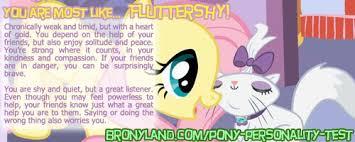 My Little Pony Personality Chart My Pony Personality Quiz Results My Little Pony Friendship