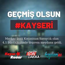 Radar Kayseri - Geçmiş olsun #KAYSERİ Kayseri Saraycık merkez üssü 4,1  büyüklüğünde deprem meydana geldi. . #deprem #kayseri #saraycık #şiddet  #kandilli #kayserideprem | Facebook