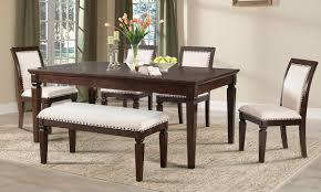 dining room table with upholstered bench. Picture Of Harwich Dining Set With Upholstered Bench Room Table E