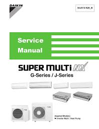 Daikin Inverter Ac Blinking Green Light Daikin Super Multi Nx Ctxs07jvju Service Manual Manualzz Com