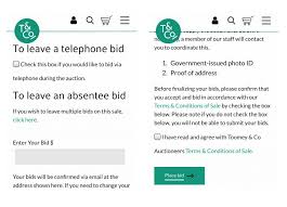 Your Bids How To Bid On Toomey Co S Website Toomey Co