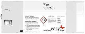 Easy Inks White / <b>Metallic</b> Silver 220ml Cartridges for <b>Roland Eco</b> ...